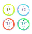 isolated framing circles with sample text drawn vector image