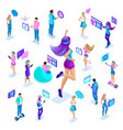 isometry of a large girl jumping having fun vector image vector image
