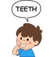 kid teeth vector image