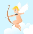 Little cupid with bow vector image