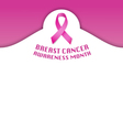 National Breast cancer awareness month vector image