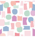 pastel abstract floating shapes repeat vector image vector image