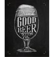 Poster good beer chalk vector image vector image