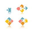 puzzle set vector image vector image