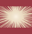 radial background with comic book speed lines vector image vector image