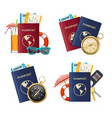 realistic detailed 3d travelling set vector image vector image