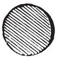 roundlet pome have cross line pattern vintage vector image vector image