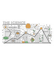 science concept flat line art vector image vector image