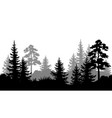 Seamless background summer forest silhouettes