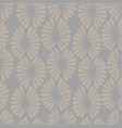 seamless grey pattern with retro flowers vector image vector image