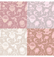 Set of 4 floral seamless patterns vector image vector image