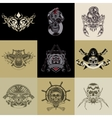 Set of nine art label vector image vector image