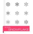snowflake icon set vector image vector image