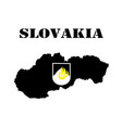 symbol of slovakia and maps vector image vector image