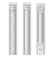 three eastern tower vector image vector image