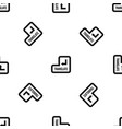 translate button pattern seamless black vector image vector image