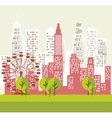 Urban city and real estate design vector image vector image