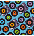 vinyls music festival label vector image vector image
