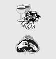 Wedding Romantic Icon and Pictogram Flat De vector image