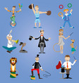 a set of circus performers vector image