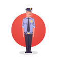policeman icon male cop guard security vector image