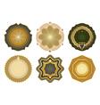 Set of gold-framed labels vector image