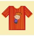t-shirt boy strips vector image