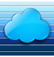 Abstract Blue Background With Speech Bubble Cloud vector image