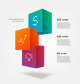 3d blocks infographics step by step element of vector image vector image