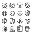 acne icon set in thin line style vector image vector image
