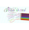 back to school background with rainbow wave and vector image