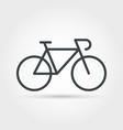 bike minimal outline icon vector image vector image