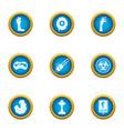 biohazard icons set flat style vector image vector image