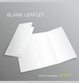 Blank leaflet vector image
