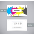 Business card for print house with CMYK ink vector image vector image