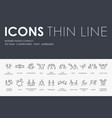 business people conflict thin line icons vector image vector image