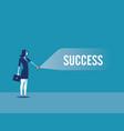 businesswoman lights shadow success vector image vector image
