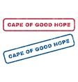 Cape Of Good Hope Rubber Stamps vector image vector image
