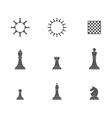 Chess pieces Icon set vector image vector image