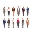 collection of attractive men wearing elegant vector image