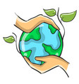 collection save world doodle style vector image vector image