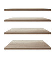 collection wood shelf table vector image vector image