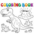 coloring book dinosaur topic 1 vector image vector image