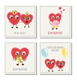 Congratulation card with hearts for Valentines Day vector image vector image