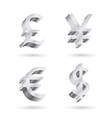 currency silver symbols vector image