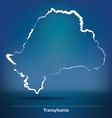 Doodle Map of Transylvania vector image