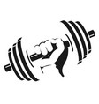 dumbbell in hand vector image vector image
