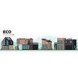 eco village contemporary construction luxury vector image vector image