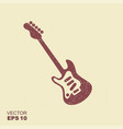 electric guitar icon with scuffed effect in vector image
