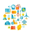 Electric power electrical lines electricity vector image